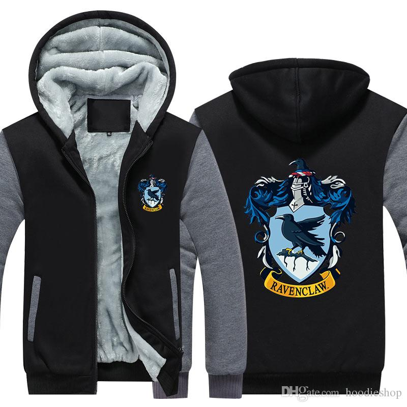 speical offer separation shoes fast delivery 2020 RAVENCLAW Hoodie 2018 Harry Potter Coat New Winter Thicken ...