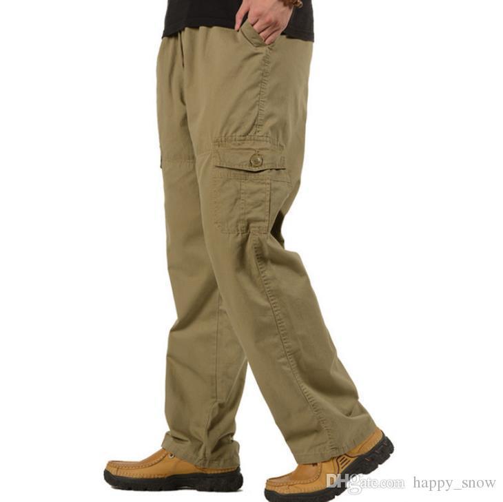 Moda Pantaloni da uomo per il tempo libero Grandi Cantieri XXL XXXXXL PANTALONI CASUAL Pantaloni lunghi Stagioni Pantaloni Uomo Fondo