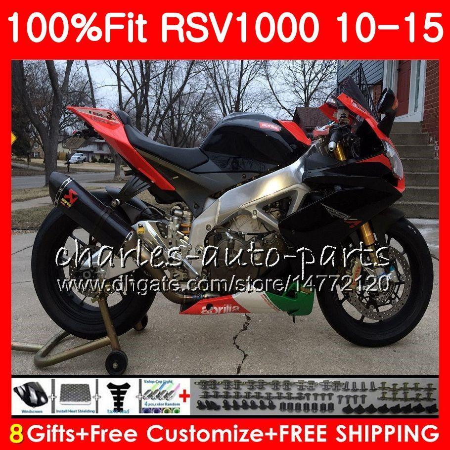 Czerwony czarny wtrysk dla Aprilia RSV1000RR RSV1000R 2011 2012 2012 2013 2015 77HM36 RSV 1000R RSV4 RSV1000 10 11 12 13 14 15 Zestaw do zwalczania