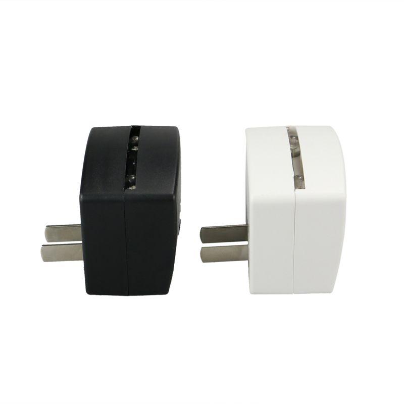 Mini LED RGB Base de la lámpara sensor incorporado de la luz nos enchufe de pared del tubo de 7 estadounidenses RGB luces de acrílico Placa
