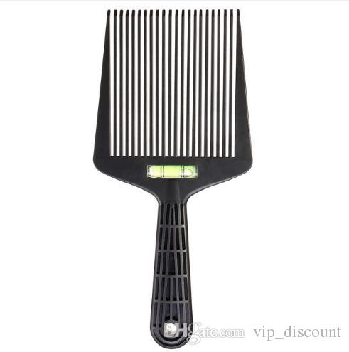 1Pcs Flat Wide Tooth Hair Comb with Level Instrument Dyeing Coloring Pigment Mixing Coating Pro Barber Hairstyling Brush Tool