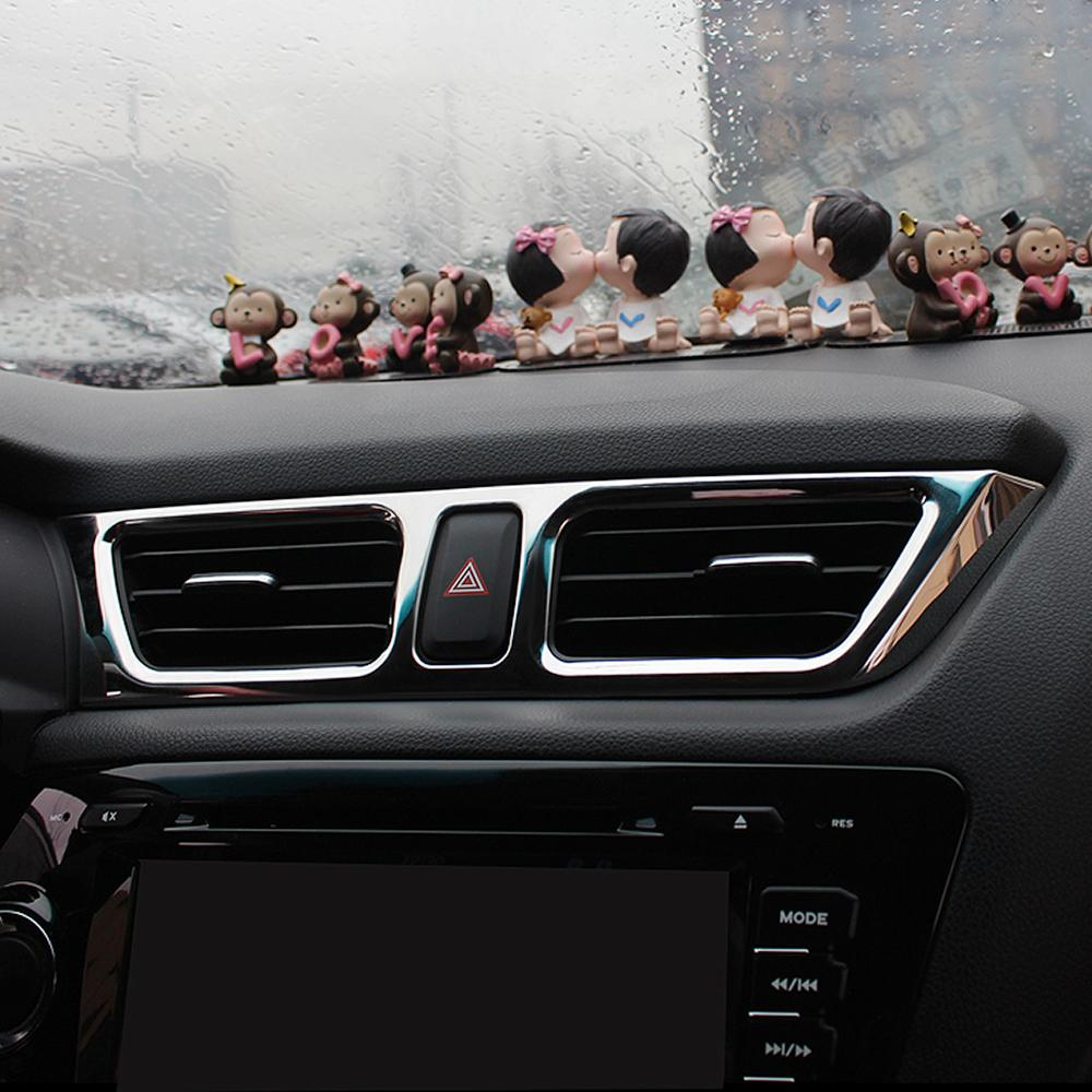 5pcs/set Car styling ,Car Air Vent cover trim Decoration frame Fit For KIA RIO 3 K2 2011-2014 2015 2016 car accessories