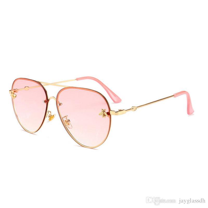 أزياء العلامة التجارية مصمم النظارات النساء الرجال جديد وصول نوعية جيدة الأزياء المعادن المتضخم النظارات الشمسية خمر الإناث الذكور uv400