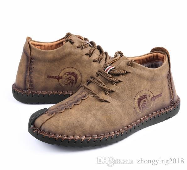Baumwollschuhe Männer beiläufige Wildleder Stiefel Freizeit Stiefeletten Mode Schuhe repopular klassische beliebte suded Schuhe zyx08