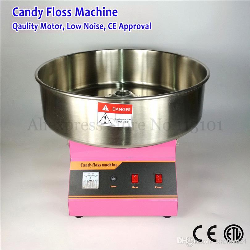 52 cm Paslanmaz Çelik Kase Ticari Pamuk Şeker Makinesi Pembe Renk Şeker Peri Ipi Makinesi 1030 W 220 V CE