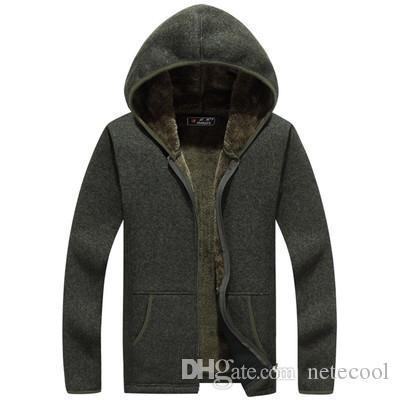 새로운 남성 가을 겨울 패션 브랜드 긴 소매 가을 겨울 고품질 유지 따뜻한 후드 따뜻한 스웨터 남성 레저 코트