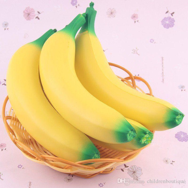 Giocattoli di decompressione del bambino Banana Squishy Super Slow Rising Jumbo simulazione Cinghie di telefono di frutta Soft Cream torta di pane profumato Kid giocattolo divertente regalo