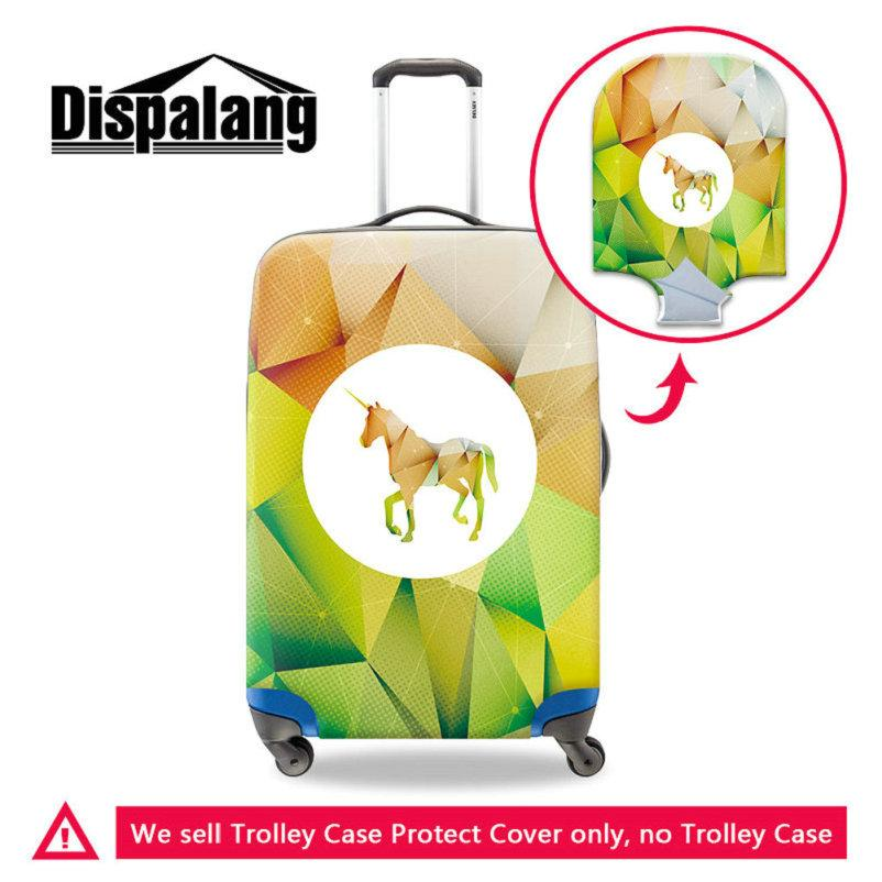 Stretch Elastic Trunk Case Dust Covers With Zipper 3 Sizes For 18 20 22 24 26 28 30 Inch Trolley Unicorn Print Travel On Road Luggage Cover