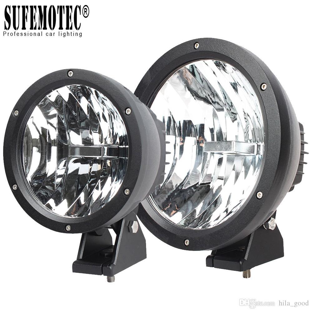 "9"" Led Driving Light for 12V 24V 4x4 Offroad Truck 4WD SUV ATV Boat UTV 7 Inch 50W Flood Beam Auto Car Headlights"