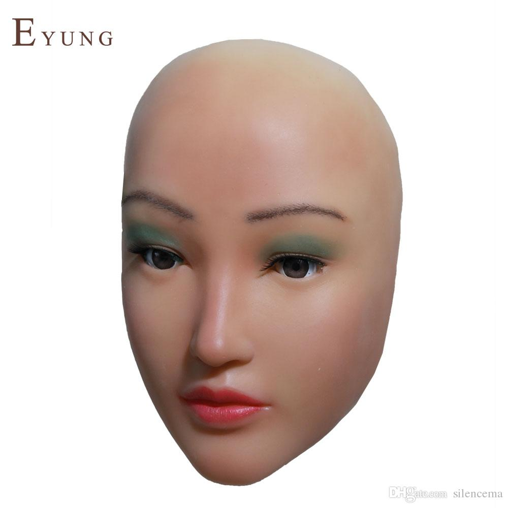 d353beacd93 Chinesebeauty Sophia angel face silicone mask crossdresser masquerade  shemale cosplay sissy boys female masks for drag queen makeup DIY