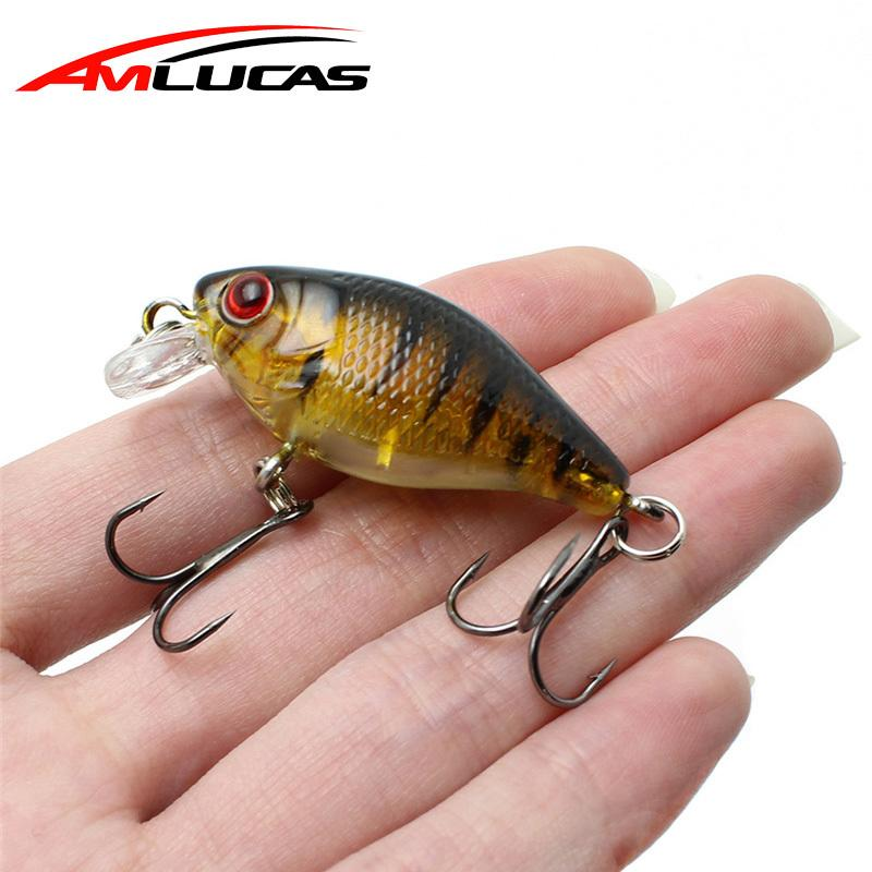 Amlucas Minnow Fishing Lure 45mm 4.4g Crankbait Hard Bait Topwater artificial Wobblers Bass carp fishing Accessories WE304 Y1890402