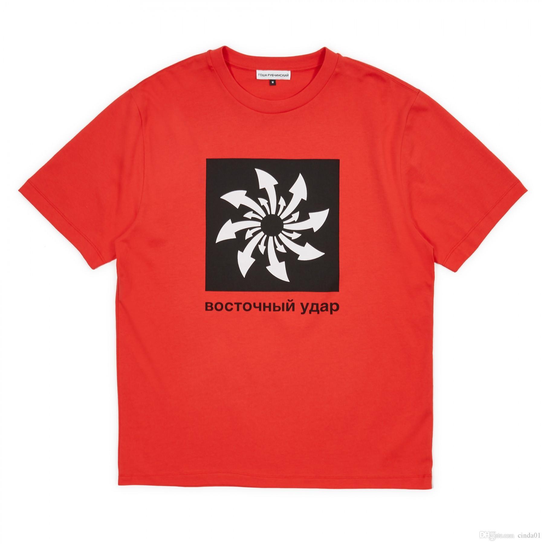 GOSHA Pattern Parted Mens Женский повседневный дизайнер Thirts Tshirts летние мужские женские члены экипажа с короткими рукавами