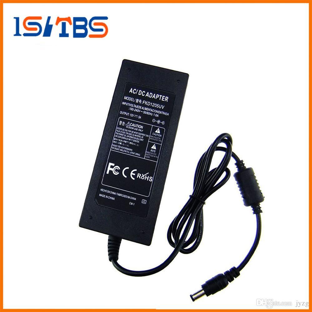 12V 5A Adaptateur d'alimentation CA vers CC 60W Adaptateur d'alimentation de transformateur pour 3528 5050 LED Strip Lights Routeur sans fil LED d'éclairage