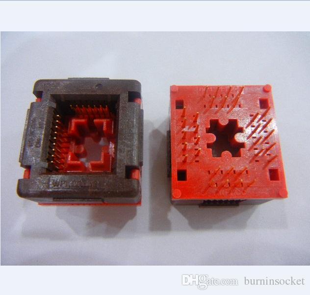 Wells-CTI LCC32P IC Testi Soket 635-0322112 1.27mm Pitch Soket Yanık