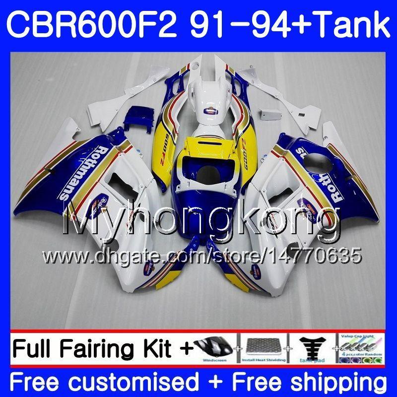 Rothmans Blue Body for HONDA CBR 600F2 FS CBR600RR CBR600 F2 91 92 93 94 1MY.37 CBR600FS CBR 600 F2 CBR600F2 1991 1992 1993 1994 페어링 키트