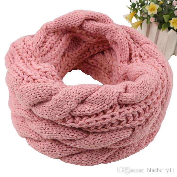 Inverno caldo moda donna spessa maglia collo sciarpe design rosso nero grigio coreano sciarpa di maglieria per le donne