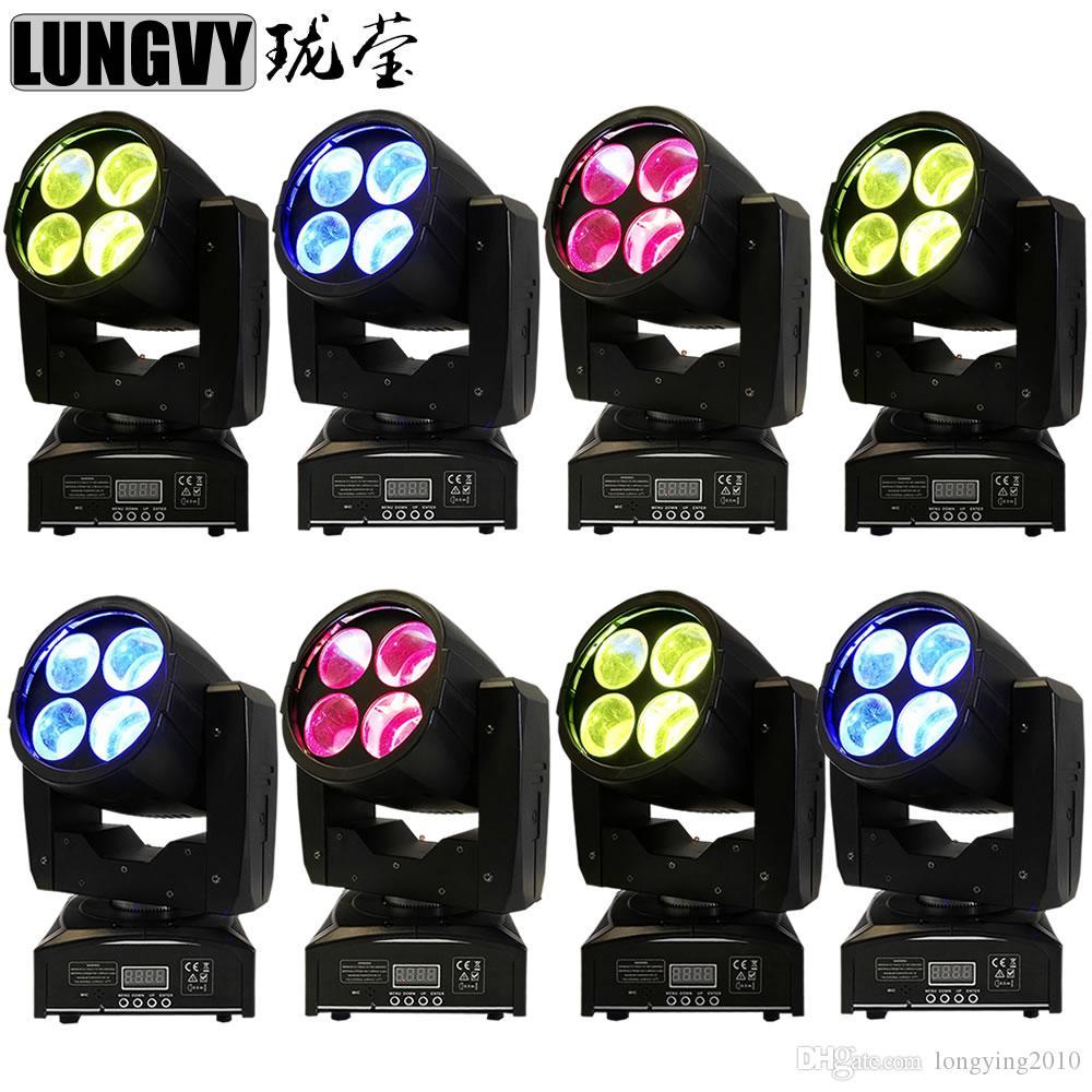 8pcs / lot 4 * 15W llevó la luz principal principal móvil profesional ligera de las luces de la etapa DJ Disco Bar DMX 4 / 16CH