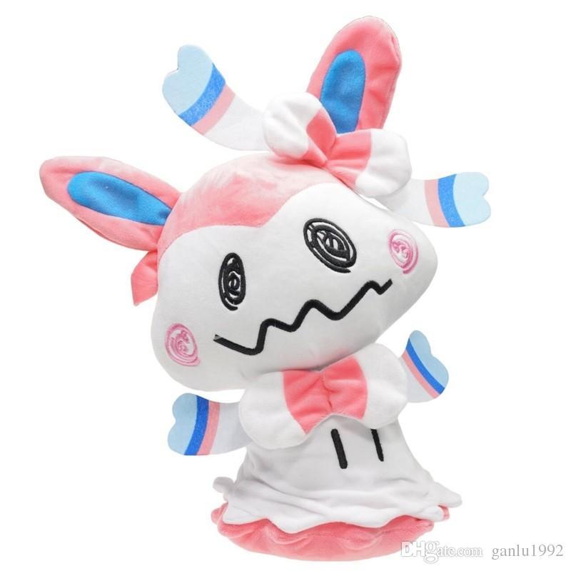 Cartoon Mini Mimikyu Plush Dolls Ornament Umbreon Eevee Sylveon Soft Stuffed Toys Gift PP Cotton High Quality 30km WW