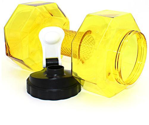 2 .2l Large Capacity Dumbbells Water Bottle For Gym Fitness Sports Outdoor Drinking Bottles Leak -Proof Plastic Kettle