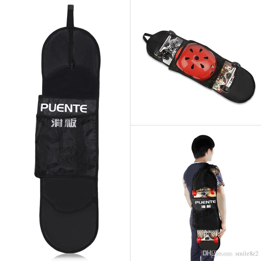 휴대용 폴리 에스터 메쉬 스케이트 보드 야외 방수 높은 섬유 스쿠터 운반 가방 케이스 대용량 운반 가방