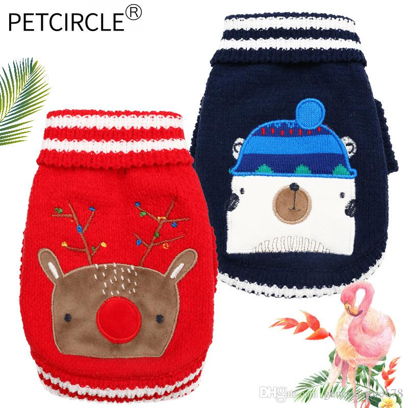 Dog Sweaters New Autumn Winter Knitted Chirstmas Pet Pullover Tops Cheap Wholesale Originality Breathable Dog Costumes