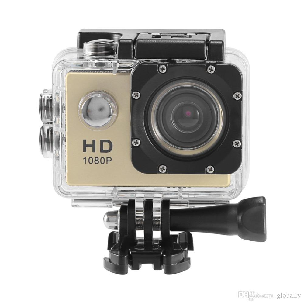 2018 Waterproof Sports Camera with 1080P HD 12MP 140 degree Wide-angle 180 degree Rotating Camera for outdoor sports