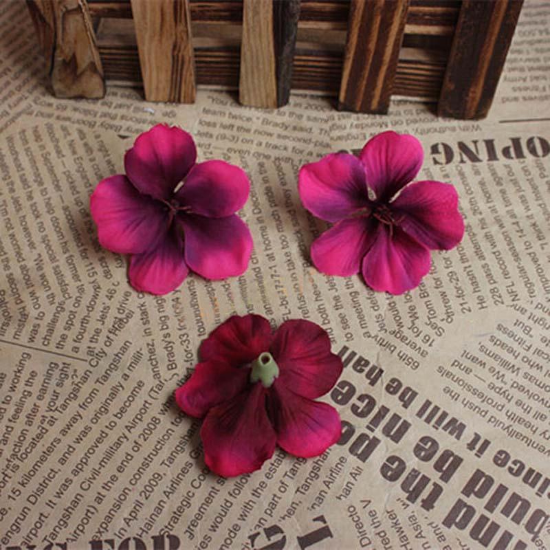 120pcs 5cm pista pistas multicolor tacto verdadero Hortensia pétalos de flor artificial de seda DIY arreglos florales decoraciones caseras