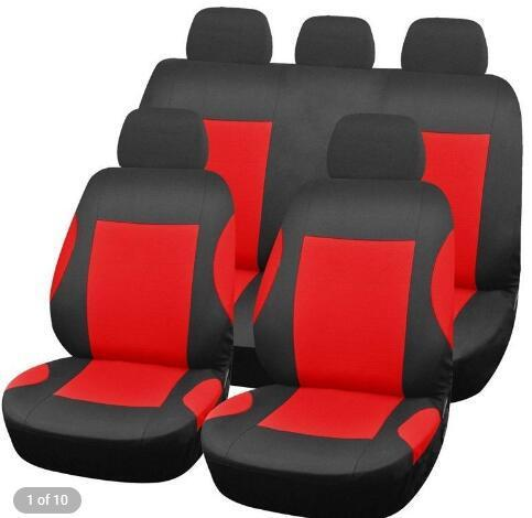 9pcs Full Set Car Seat Protector Automobile Seat Cushions Universal Fit All Season 100% Polyester Interior Accessories Protectors