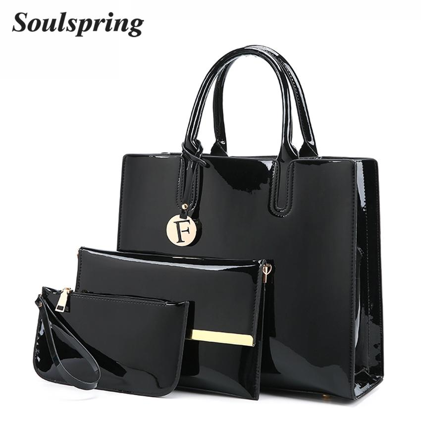 4266a69a65 Patent Leather Bags Women Shoulder Bag Designer Handbags High Quality  Letter Ladies Hand Bags Luxury Purse And Handbags Purses Wholesale Mens Leather  Bags ...