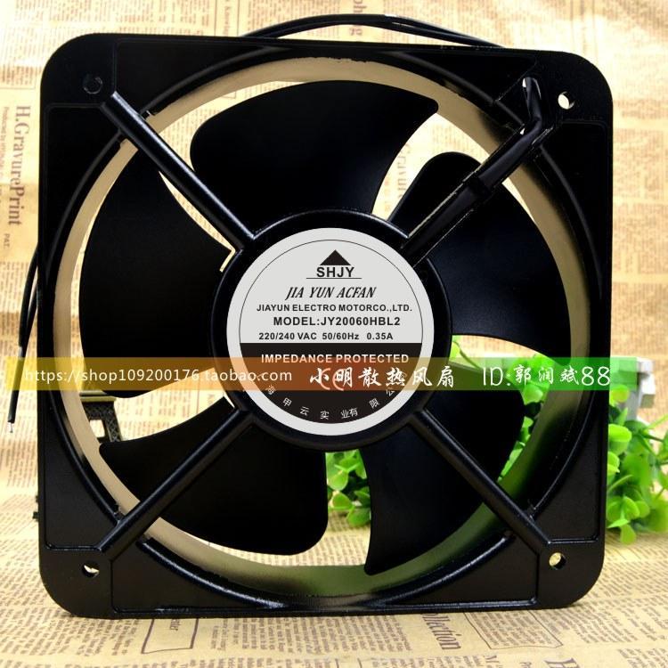 Pour JY20060HBL2 AC220-240V 0.35A nouveau Shanghai Jiayun SHJY cadre en aluminium à billes ventilateur AC