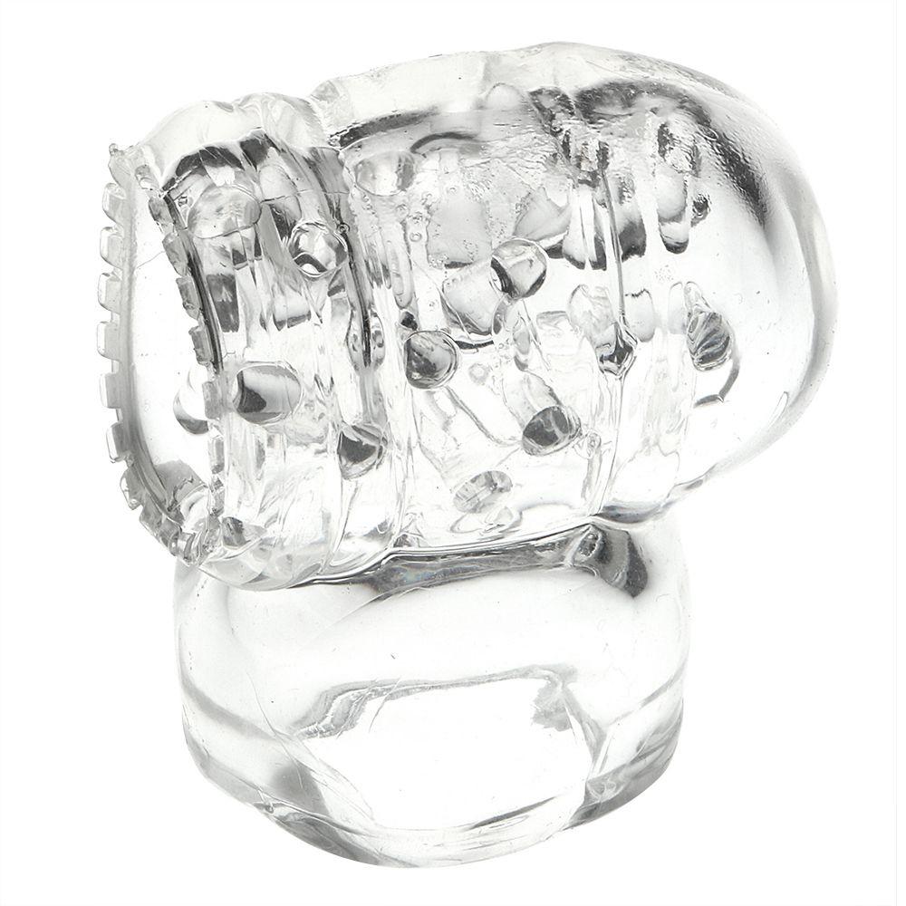 Accesorio de boquillas de estimulación masculina para vibradores de AV por varitas DHL Penis Masturbator Adjunto de Anexos Massager Magic Iwand VNRSA