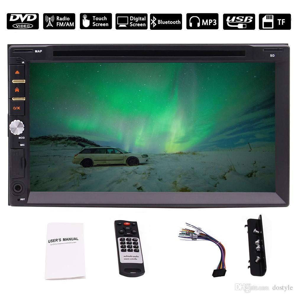 "EinCar Receptor Multimedia Estéreo Automóvil 7 ""Pantalla Táctil Doble 2Din en Dash auto DVD CD 1080P Reproductor Bluetooth SWC USB TF"