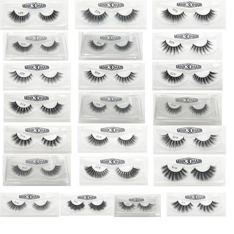 3D False Eyelashes 22 Styles Handmade Beauty Thick Long Soft Lashes Fake Eye Lashes Eyelash Gift Box Package 3001217