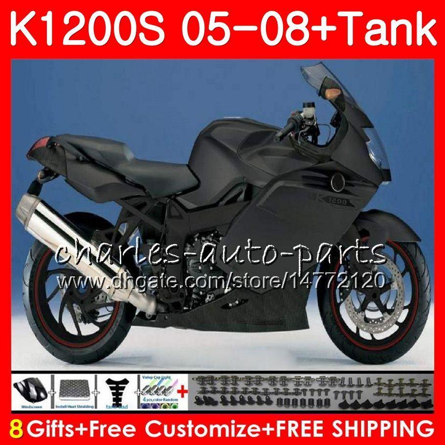 Ciało dla OEM K1200 S K 1200 S 05 10 Matowe Black K1200S 05 06 07 08 09 10 103 HHM.8 K-1200S K 1200S 2005 2006 2007 2008 2009 2010 Zestaw targowy