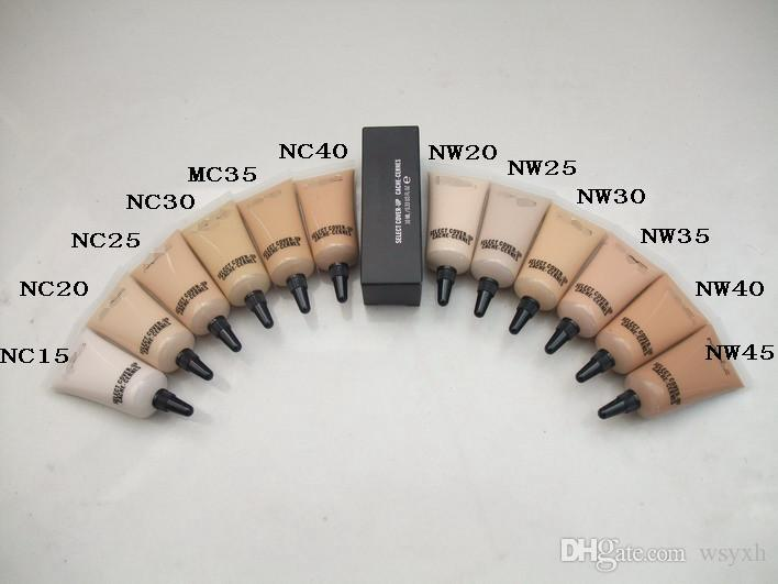 New makeup SELECT COVER-UP CACHE-CERNES 12colors concealer liquid Foundation NC15-NW45 10ML/0.33OZ Liquid Concealer DHL