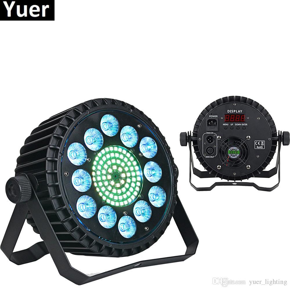 4 Шт. / Лот Алюминиевый Сплав LED Par 12x10 Вт RGBW 4IN1 Светодиодное Освещение DMX512 Прожектор Прожектор Может Мыть DJ Сценический свет Освещения Проектор