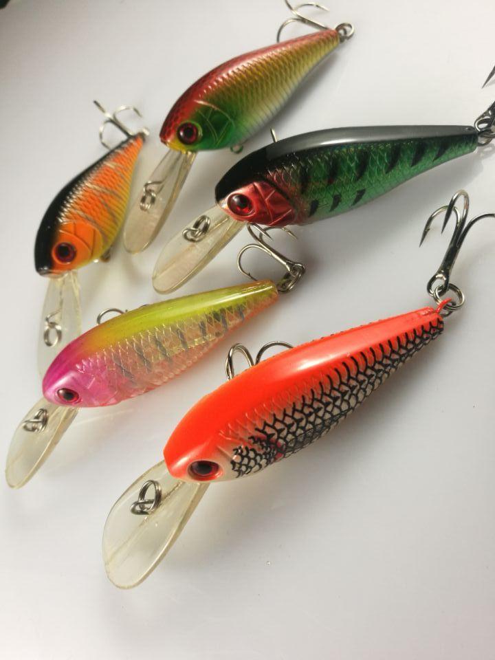 Lot30 Fishing Lure Crankbait Hand Bait Hook Bass 7.2g/8cm