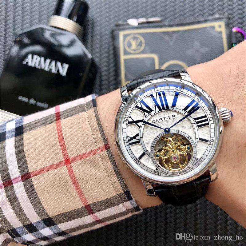 Top qualité nouvelle marque automatique montre-bracelet pour hommes NAVITIMER cadran noir cuir bleu 1884 mode montre homme montres