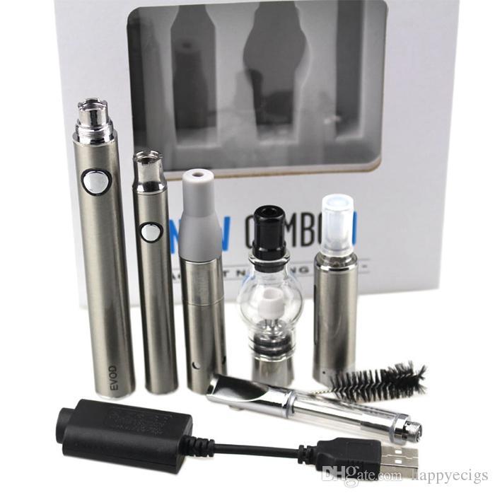 EVOD MT3 4 in 1 Vaporizer kits Preheating Battery Ceramic coil CE3 Pyrex Glass Cartridge Dry Herb Wax Atomizers multi Vape Pen Kits