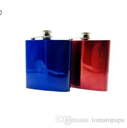 Yeni sıcak satış 6 ons Sprey boya Paslanmaz çelik alkol hip flask Viski Moskova votka likör flagon