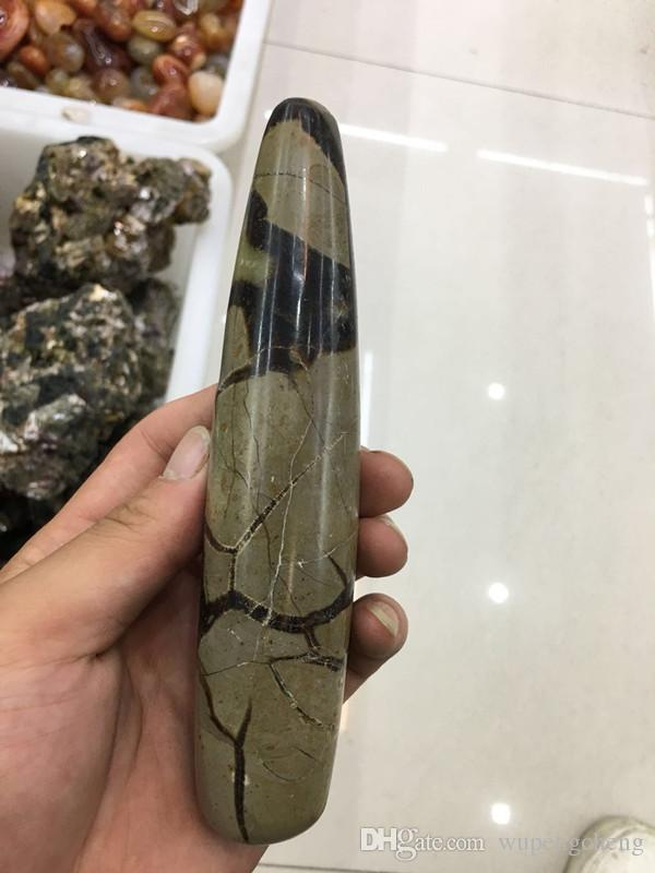 2018 new fashion Madagascar natural mineral turtle back massage stick, crystal pillar point household decoration for mass sale