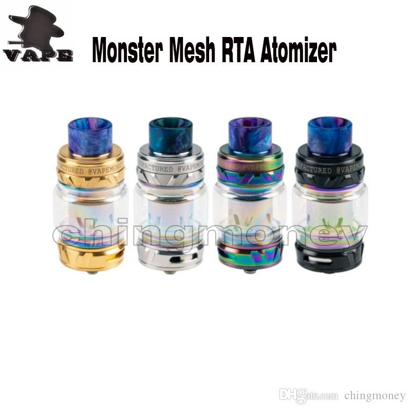 Authentic Vapemons monster mesh tank compatible with baby TFV1 coil 810 Drip tip 8ml Bubble Glass monster Atomizer Fit 510 Mod E cig