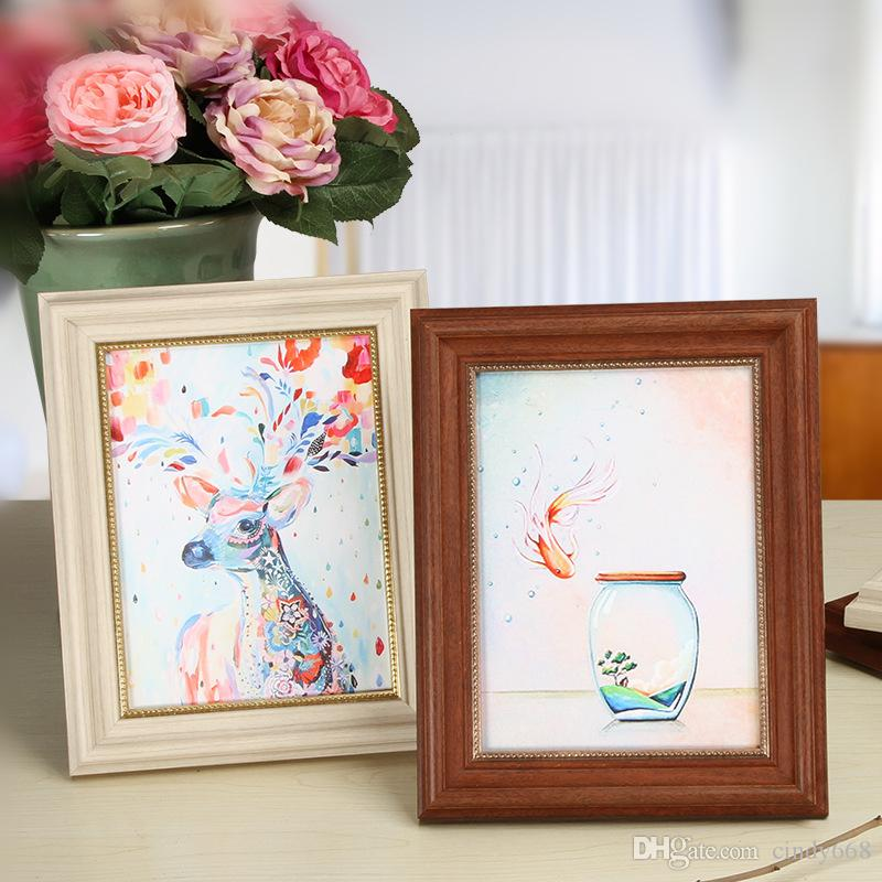 American Style Desktop Photo Frames For Wedding Dress Picture 1 Piece Table&Wall Quality Picture Frame For Bedroom Home Decor Family Photo