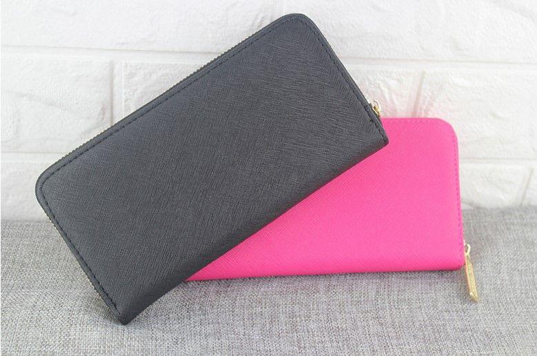 Toptan 2018 MICKY KEN ünlü marka moda tek fermuar ucuz lüks tasarımcı kadın pu deri cüzdan bayan bayanlar uzun çanta