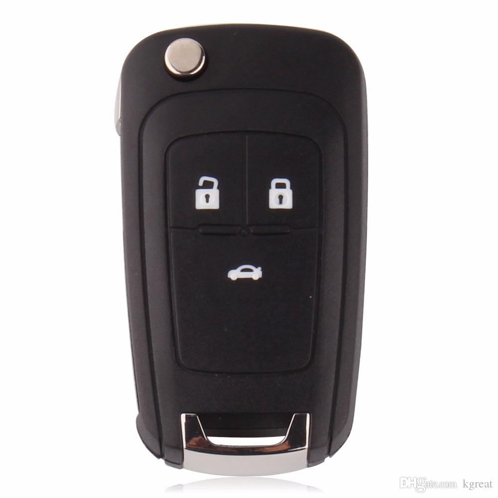 Chevrolet Cruze Buick Opel 3 Button Key Blank Repalce 원래 키 쉘 키 케이스 (라운드 스티커)