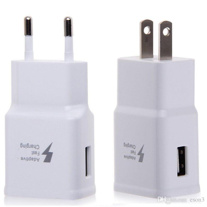 5V1A carregador de parede Adapter + 5V 2A real rápido carregamento de carga para o telefone Cube carregador de parede viagem adaptador para telefone celular samsung