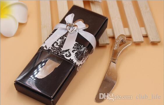 Venta al por mayor Spread The Love Forma de corazón en forma de corazón Spreaders Spreader Cuchillos de mantequilla Cuchillo de regalo de boda Favors