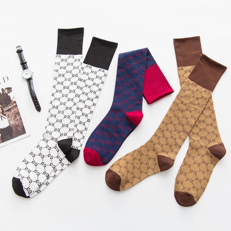 كامل G رسالة الجوارب أسبوع الموضة في الخريف والشتاء المنتجات الجديدة دعم الجوارب القطنية العليا أنبوب جوارب بالجملة