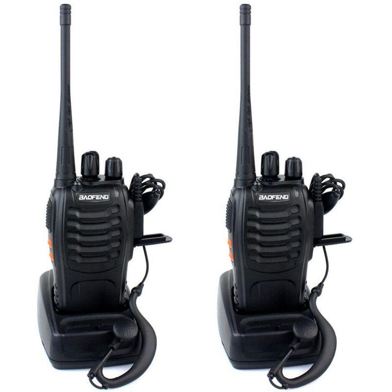뜨거운 BAOFENG BF-888S 워키 토키 UHF 양방향 라디오 baofeng 888s UHF 400-470MHz 16CH 휴대용 송수화기 이어폰