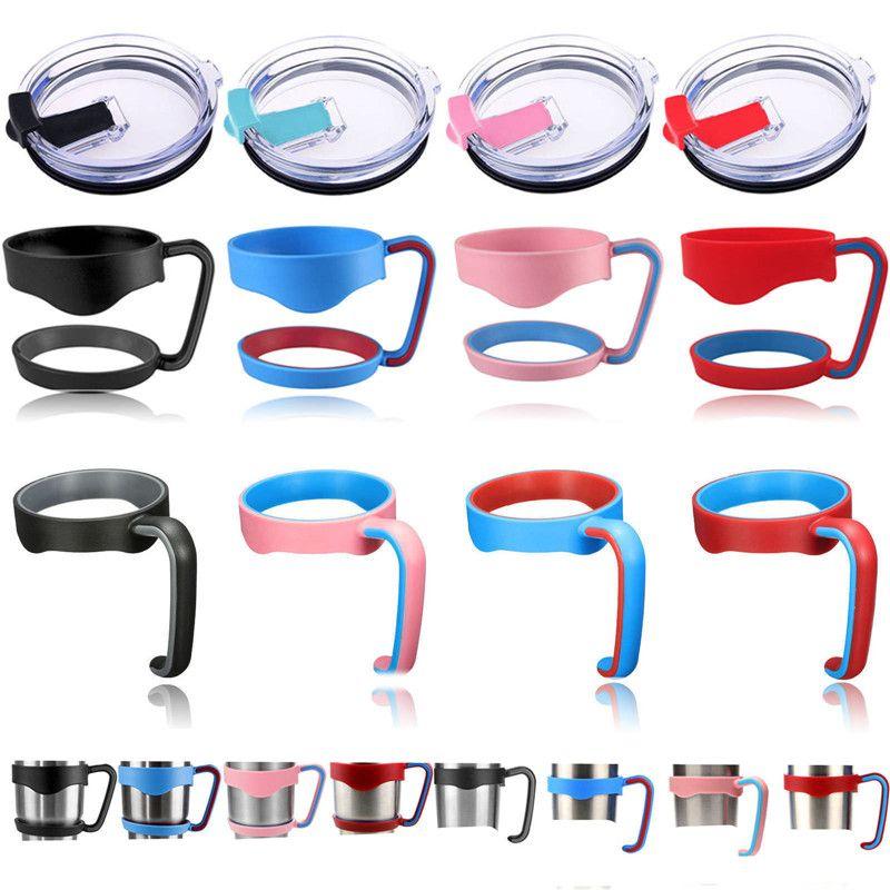 4 renk plastik Saplı kapak termos su şişeleri tutucu 20 30 Için Ons fincan paslanmaz çelik kupa bardaklar stokta
